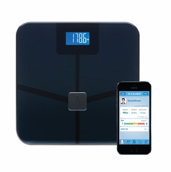 BlueAnatomy Wireless Bluetooth Smart Scale Digital Body Analyzer, Measures and Sends Weight, Fat, BMI, Muscle, Water, and Bone Data Directly to iOS/Android Smartphone/Tablet<!--BASMARTSCALE-->