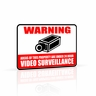 Defender 12 x 18 Aluminum Video Surveillance Security Warning Sign with Reflective Coating (23002)