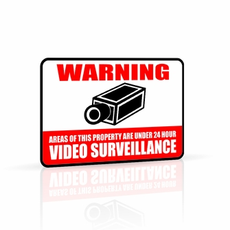 Defender 12 x 18 Aluminum Video Surveillance Security Warning Sign with Reflective Coating (23002)<!--23002-->