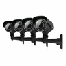 Defender 4 Ultra Resolution Outdoor 100 ft Night Vision Security Cameras with IR Cut Filter - 21006
