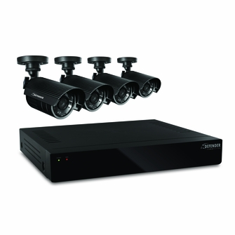 Defender Connected 4CH H.265 500GB Smart Security DVR with 4 x 480TVL 75ft Night Vision Indoor/Outdoor Cameras - 21020<!--21020-->