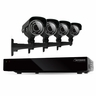 Defender Connected 4CH H.265 500GB Smart Security DVR with 4 x 600TVL IR Cut Filter 100ft Night Vision Indoor/Outdoor Cameras - 21021