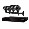 Defender Connected 8CH H.265 500GB Smart Security DVR with 4 x 600TVL IR Cut Filter 100ft Night Vision Indoor/Outdoor Cameras - 21024