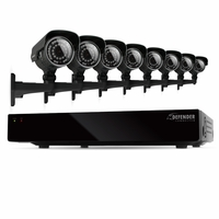 Defender Connected 8CH H.265 500GB Smart Security DVR with 8 x 600TVL IR Cut Filter 100ft Night Vision Indoor/Outdoor Cameras - 21025<!--21025-->