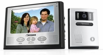 "Defender GK300-7M2 Hands Free 2-Wire Color Video Intercom Surveillance System with 7"" LCD Monitor & Outdoor Night Vision Security Camera<!--GK300-7M2-->"