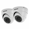 Defender Pro 2 Pack 800TVL Ultra High Resolution Widescreen Indoor/Outdoor Dome Security Cameras (21319)