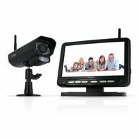 "Defender PX301-010 Digital Wireless DVR Security System with 7"" LCD Monitor, SD  Card Recording and Long Range Night Vision Surveillance"
