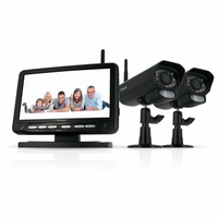 "Defender PX301-011 Digital Wireless DVR Security System with 7"" LCD Monitor, SD  Card Recording and 2 Long Range Night Vision Surveillance  Cameras<!--PX301-011-->"