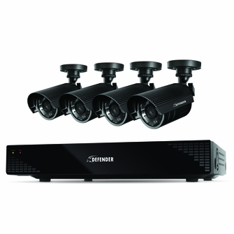 Defender Scout 4CH H.265 Smart Security DVR with 4 x 480TVL 75ft Night Vision Indoor/Outdoor Cameras - 21032<!--21032-->