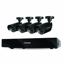 Defender Scout 4CH H.265 Smart Security DVR with 4 x 480TVL 75ft Night Vision Indoor/Outdoor Cameras - 21032