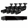Defender Sentinel 16CH H.264 500GB Smart Security DVR with 8 Hi-res Outdoor Surveillance Cameras and Smart Phone Compatibility (21048)