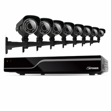 Defender Sentinel� 16CH H.264 500GB Smart Security DVR with 8 Ultra Hi-res Outdoor Surveillance Cameras and Smart Phone Compatibility (21050)