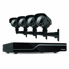 Defender Sentinel 4CH H.265 500GB Smart Security DVR with 4 x 600TVL IR Cut Filter 100ft Night Vision Indoor/Outdoor Cameras - 21027