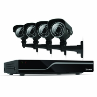 Defender Sentinel 4CH H.265 500GB Smart Security DVR with 4 x 600TVL IR Cut Filter 100ft Night Vision Indoor/Outdoor Cameras - 21027<!--21027-->