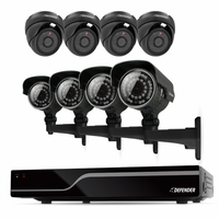 Defender Sentinel 8CH H.264 500GB Smart Security DVR with 4 Bullet /4 Dome Cameras, IR Cut Filter, 600TVL and Night Vision (21063)<!--21063-->