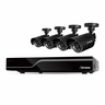 Defender Sentinel 8CH H.265 500GB Smart Security DVR with 4 x 480TVL 75ft Night Vision Indoor/Outdoor Cameras - 21028