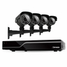 Defender Sentinel 8CH H.265 500GB Smart Security DVR with 4 x 600TVL IR Cut Filter 100ft Night Vision Indoor/Outdoor Cameras - 21030