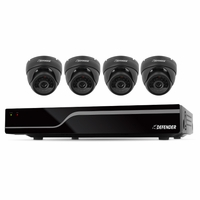 Defender Sentinel 8CH Smart Security System with 500GB DVR & 4 Indoor/Outdoor Dome Cameras with 600TVL and 65' Night Vision (21062)<!--21062-->