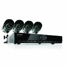 Defender SN301-8CH-002 8 Channel H.264 Smart DVR Security System with Coaching iMenu and 4 Indoor/Outdoor Hi-Res CCD Night Vision Surveillance Cameras