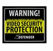 Defender SP102-SGN Indoor Video Security Surveillance System Deterrent Warning Sign with 4 Window Warning Stickers