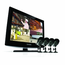 "Defender Sync SN503-8CH19M-002 19"" LCD All-In-One Security System with 4 Hi-Res Indoor/Outdoor Surveillance Cameras"