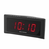 Electrohome 1.8 inch Jumbo LED Alarm Clock Radio with Battery Backup, Auto Time Set, Digital AM/FM Tuner, Dual Alarm, Indoor Temperature & 4 Dimming Options (EAAC302)<!--EAAC302-->