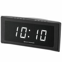 Electrohome 1.8� Jumbo LED Alarm Clock Radio with Battery Backup, Auto Time Set, Digital AM/FM Tuner, Dual Alarm, Indoor Temperature & 4 Dimming Options (EAAC302W)<!--EAAC302W-->