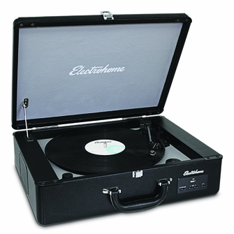 Electrohome Archer Vinyl Record Player Classic Turntable Stereo System with Built-in Speakers, USB for MP3s & AUX Input for Smartphones, Tablets, & MP3 Players (EANOS300)<!--EANOS300-->