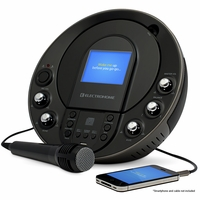 "Electrohome Karaoke Machine Portable Speaker System CD+G/MP3+G Player with 3.5"" Video Screen, 2 Microphone Connections, Singing Music, & AUX Input for Smartphones, Tablets, & MP3 Players (EAKAR535)<!--EAKAR535-->"