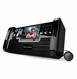"Electrohome EAKAR770 Portable Karaoke DVD/CD+G/MP3 Player Speaker System with 7"" Screen, USB, SD and Voice Recording<!--EAKAR770-->"