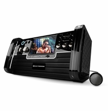 "Electrohome EAKAR770 Portable Karaoke DVD/CD+G/MP3 Player Speaker System with 7"" Screen, USB, SD and Voice Recording"