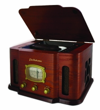 Electrohome EANOS401 2-in1 Nostalgia Real Wood CD Player Stereo System with CD-R/RW & AM/FM Radio