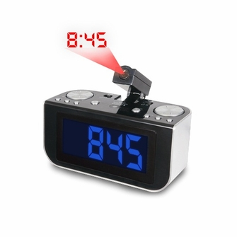 "Electrohome ELE-CR916E AM/FM Projection Alarm Clock Radio with Jumbo 1.8"" Blue LED Display<!--ELE-CR916E-->"