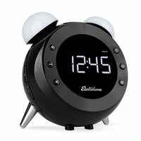 Electrohome� Retro Alarm Clock Radio with Motion Activated Night Light and Snooze, Digital AM/FM Radio, Wake-up Light, Dual Alarm, Auto Time Set, Battery Backup, Dimmer, and Temperature Display (CR35)<!--CR35-->