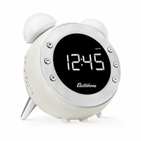 Electrohome Retro Alarm Clock Radio with Motion Activated Night Light and Snooze, Digital AM/FM Radio, Wake-up Light, Dual Alarm, Auto Time Set, Battery Backup, Dimmer, and Temperature Display (CR35W)<!--CR35W-->