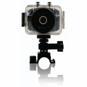 Emerson HD Action Cam for Active Filming with 720p, 5.0 MP and 4x Digital Zoom<!--EVC355-->