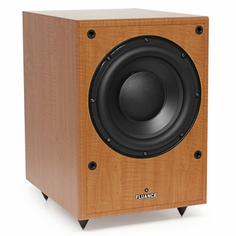 Fluance DB150-BE 10 Inch 150 Watt Low Frequency Powered Subwoofer-Natural Beech<!--DB150-BE-->