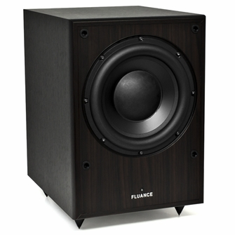 Fluance DB150-DW 10 Inch 150 Watt Low Frequency Powered Subwoofer-Dark Walnut<!--DB150-DW-->