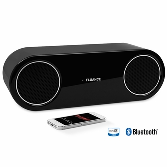 Fluance FI30 High Performance Wireless Bluetooth Wood  Speaker System with aptX Enhanced Audio (Piano Black)<!--FI30-->