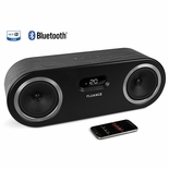 Fluance Fi50 Two-Way High Performance Wireless Bluetooth Premium Wood Speaker System with aptX Enhanced Audio (Black Ash)<!--FI50-->