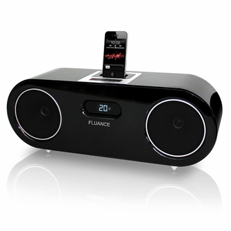 Fluance FiSDK500 Two-way High Performance Wood Speaker Dock Music System for iPod/iPhone<!--FiSDK500-->
