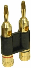 Heavy Duty Pro Gold Plated Dual Banana Plug Connectors