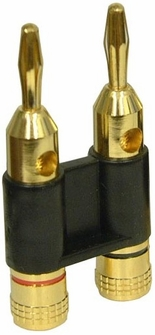 Heavy Duty Pro Gold Plated Dual Banana Plug Connectors<!--BP1-->