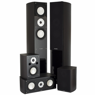 High Performance 5 Speaker Surround Sound Home Theater System - Dark Walnut (XLHTB-DW)<!--XLHTB-DW-->