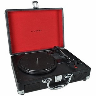 HYPE HY-2004-BCT Portable Briefcase USB Turntable/Vinyl Archiver w/Built-in Speakers & USB Recording<!--HY2004BCT-->