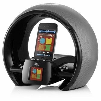 JBL JBLONAIRWBLKAM On Air Wireless iPhone/iPod AirPlay Speaker Dock with FM Internet Radio & Dual Alarm Clock - Black<!--JBLONAIRWBLKAM-->