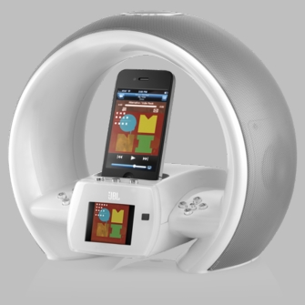 JBL JBLONAIRWWHTAM On Air Wireless iPhone/iPod AirPlay Speaker Dock with FM, Dual Alarm and Internet Radio - White<!--JBLONAIRWWHTAM-->