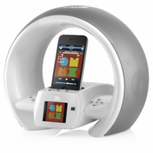 JBL JBLONAIRWWHTAM On Air Wireless iPhone/iPod AirPlay Speaker Dock with FM, Dual Alarm and Internet Radio - White