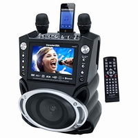 "Karaoke USA GF830 DVD/CD+G/MP3+G Bluetooth Karaoke System with 7"" TFT Color Screen and Record Function<!--GF830-->"