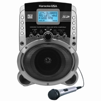 Karaoke USA SD519 Portable Karaoke MP3+G Player with Audio/Video Output<!--SD519-->